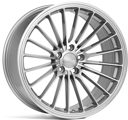 "NEW 19"" VEEMANN V-FS36 ALLOY WHEELS IN SILVER POL WITH WIDER 9.5"" REARS"